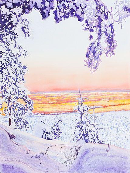 Kvällsljus, 56 x 76 cm, 18000:-