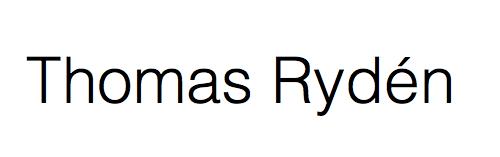 Thomas Ryden