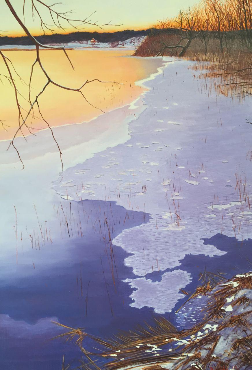 Lindesjön, 25 x 36 cm